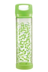 Worship, Pray, Peace Glass Water Bottle