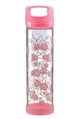 God Is Love Glass Water Bottle