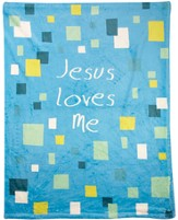 Jesus Loves Me Throw, Blue