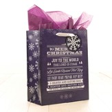 Joy To the World Gift Bag, Purple, Medium