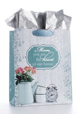 Mom Heart of Home Gift Bag with Tissue Paper, Medium