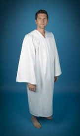 Pleated Baptismal Gown for Men, Large