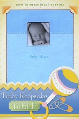 NIV Baby Keepsake Bible, Italian Duo-Tone ™, Blue, Imitation Leather 1984 - Imperfectly Imprinted Bibles