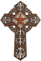 Western Style Wall Cross with Star