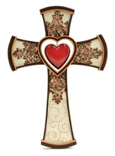 Cross with Hanging Heart