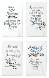 Psalms Tea Towel, Set of 4