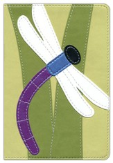 NIV Bug Collection Bible, Italian Duo-Tone, Dragonfly - Slightly Imperfect