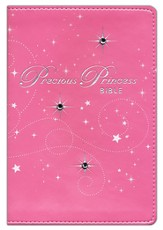 NIRV Precious Princess Bible, Italian Duo-Tone, Pink Sparkle - Slightly Imperfect