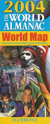 2004 World Almanac Slicker Folding World Map