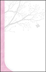 GOD'S WORD God Girl Bible, Duravella, White/Pink with tree design