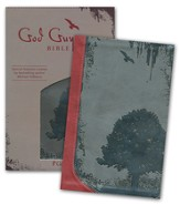 God Guy Bible, Duravella, Grunge Tree Design, charcoal/ burgundy