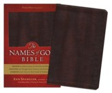 The Names of God Bible--Imitation leather, burgundy with Hebrew names design