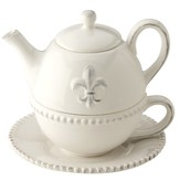 Fleur de Lis Tea for one
