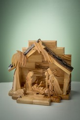 Olive Wood Tabletop Nativity