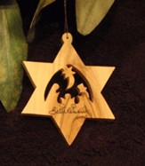 Nativity, Star of David Ornament