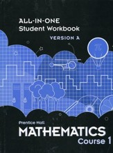 Prentice Hall Mathematics Grade 6 (Course 1) Student Workbook
