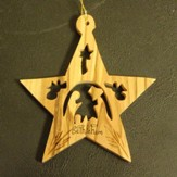 Star Nativity Olivewood Ornament