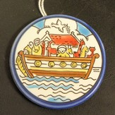 Noah's Ark Ceramic Plate Ornament
