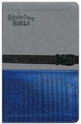 NIV Adventure Bible, Gray/Blue with Clip Closure