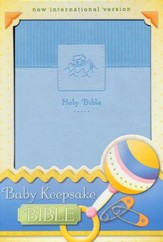 Baby Keepsake Bible, Blue