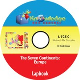 The Seven Continents: Europe Lapbook PDF CD-ROM