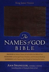 KJV Names of God Bible Mahogany, Hebrew Name Design Duravella