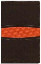 NIV Boys Bible, Italian Duo-Tone, Brown/Orange - Slightly Imperfect