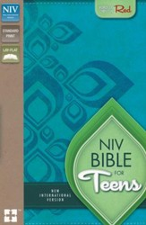 NIV Thinline Bible for Teens--soft leather-look, Caribbean blue/Caribbean blue