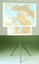 Map Bible Lands Tripod