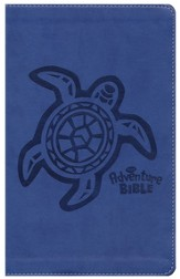 NIrV Adventure Bible, Imitation Leather, Blueberry with Turtle - Slightly Imperfect