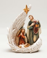 Nativity Scene, Angels Wing