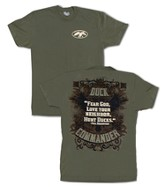 Duck Dynasty, Fear God, Love Your Neighbor Shirt, Green, Large