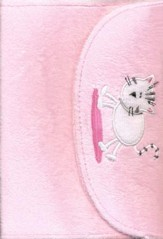 My Little Purse NIrV Bible, Furry, Pink, Kitty Design   - Slightly Imperfect