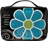 Mod Flower Sparkle Blue, Medium