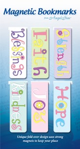Gratitude, Believe, Assorted Magnetic Bookmarks, Set of 6