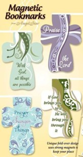 Hope, Faith, Love, Peace Magnetic Cross Bookmarks, Set of 4