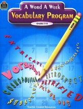 A Word a Week Vocabulary Program