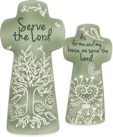Serve the Lord Tabletop Cross