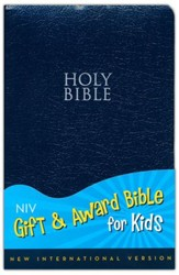 NIV Gift & Award Bible for Kids--soft leather-look, navy blue (slightly imperfect)