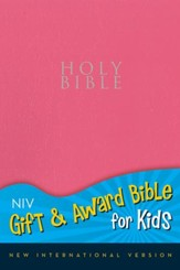 NIV Gift & Award for Kids, Pink Leather-Look  - Imperfectly Imprinted Bibles