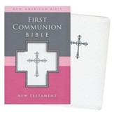 NAB, First Communion Bible: New Testament, Italian Duo-Tone, White - Imperfectly Imprinted Bibles