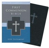 NAB, First Communion Bible: New Testament, Italian Duo-Tone, Black - Imperfectly Imprinted Bibles
