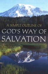 A Simple Outline of God's Way of Salvation   (KJV), Pack of 25 Tracts