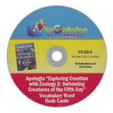 Exploring Creation with Zoology 2: Swimming Creatures of the 5th Day Vocabulary Flash Cards PDF CD-ROM