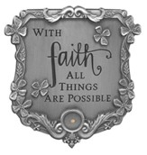 With Faith All Things are Possible Visor Clip