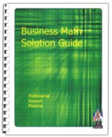 Business Math Solution Guide Professional Support Material
