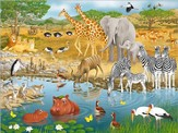 African Animals Super Floor Puzzle