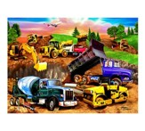 Construction Crowd, 60 Piece Puzzle