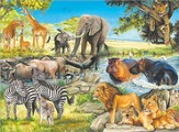 African Afternoon, 100 Piece Puzzle
