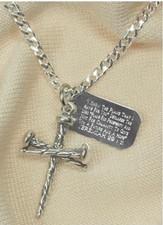 Three Nail Cross with Jeremiah 29:11 Tag